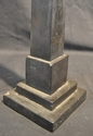 Antique Grand Tour Black Marble Obelisk
