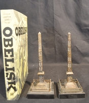 Pair of antique Grand Tour obelisks