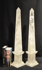 Tall Rock Crystal Obelisks
