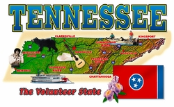 Wholesale Tennessee Map T Shirts in Bulk, Wholesale Clothing and Apparel - MSC Distributors