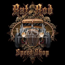 Rat Rod Vintage Classic Car T Shirts Cheap Online Sale At Wholesale Prices - 17333-11x14-rat-rod-speed-shop-rust-we-trust