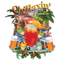 Resort Chillaxin Custom T-Shirts, Wholesale Bulk T Shirts Cheap - 17859HL