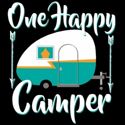 T Shirts Hoodies Camping Wholesale Bulk Suppliers - One Happy Camper - 19078