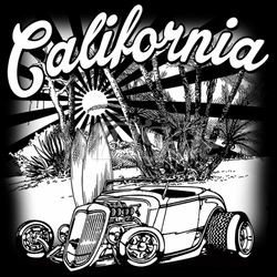 Bulk, California Classic Car T-Shirts, Wholesale, Bulk, Suppliers - 19223