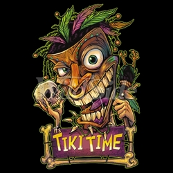 Skull Wholesale Tiki Time T Shirts, Clothing and Apparel, Skull, T Shirts - Candy Skull - 19622