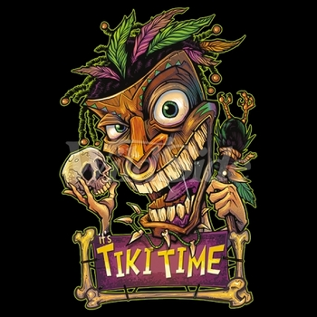 Tiki Time T Shirts, Clothing and Apparel, Skull, T Shirts - Candy Skull - 19622
