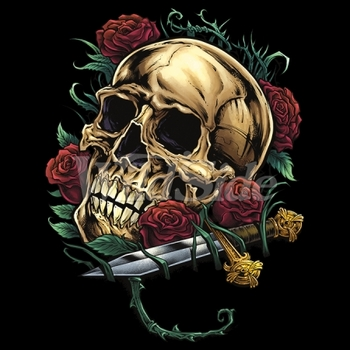 Wholesale Skull T Shirts, Roses, Suppliers, Cheap Online Sale At Wholesale Prices - Candy Skull - 19623