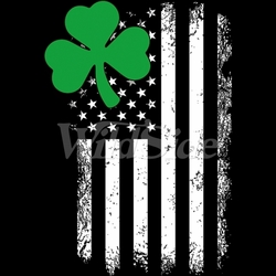Four Leaf Clover T-Shirts, Tees, Hats, Patriotic, American Flag, Cheap, Online, Wholesale - 20004
