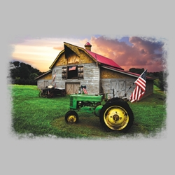 Farm Tractor Barn T Shirts Wholesale Bulk Graphic Printed Suppliers - 20641HL2