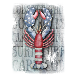 Patriotic Lobster Design T-Shirts & Shirt Designs, Custom T-Shirts, Wholesale Bulk T Shirts Cheap - 20992H2