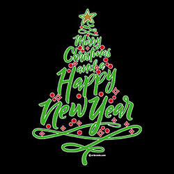 Merry Christmas and Happy New Year, Wholesale T Shirts, Bulk T Shirts, Miscellaneous T-Shirts - 21523EG2-1