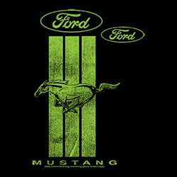 Men's Women's Adult Wholesale Classic Car T Shirts - Ford Mustang T Shirts - 21529E2-1