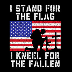 Military Clothing Apparel T Shirts Supplier, Wholesale I stand for the flag - 21564E2-1