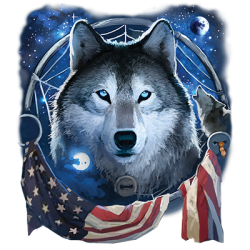Wolf Flag Wholesale Fashion Clothing Apparel Products - Graphic Tees Wholesale in Bulk Suppliers - 21906D2