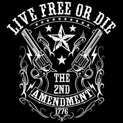 Men's Women's Adult Gun T Shirts - Live Free or Die T Shirts - MSC Distributors