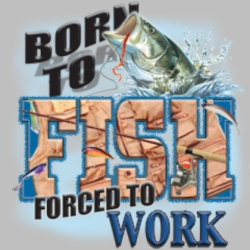 Men's Women's Adult Wholesale Clothing - Custom Personalized Born to Fish Wholesale Bulk Shirts Miscellaneous T Shirts For Sale - 4443_o_rp-400x400