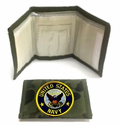Military, Wholesale, Bulk, Buy, Sell, 687WLT3 Navy. Military Wallet