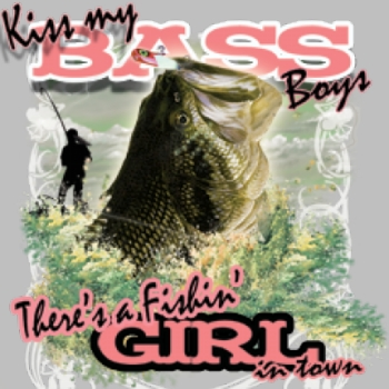 Wholesale Bass Girl T Shirts, Gildan T Shirts, Printed T Shirts, Bulk T Shirts - 6936L
