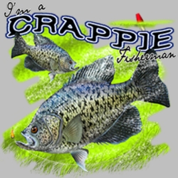 Wholesale Crappie Fishing T Shirts, Gildan T Shirts, Printed T Shirts, Bulk T Shirts - 6950
