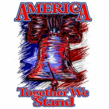 Bulk, Apparel - Wholesale T Shirts Custom Personalized America Together We Stand Patriotic T Shirts, Wholesale, Bulk, Supplier - MSC Distributors - a11571d