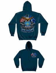 Bulk Military Hoodies Apparel - Wholesale Air Force Double with Eagle Hooded Sweatshirt