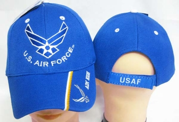 Wholesale US Air Force Hats Caps - CAP603L AF Wings Aim High on Bill Cap