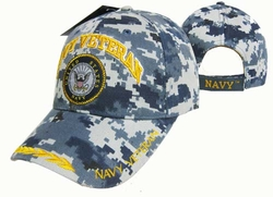 Caps Hats Wholesale Clothing, Military Hats Wholesale Bulk Supplier - CAP592AC Navy Vet Emblem Cap Camo