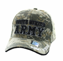 Wholesale Military Embroidered Logo Baseball Caps Hats - Army #4 Velcro Cap (Solid Digital Camo) - VM010