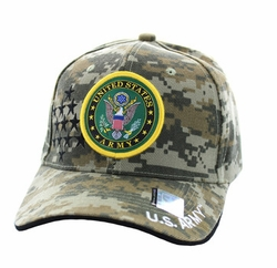 Wholesale Military Embroidered Logo Baseball Caps Hats - Army #6 Velcro Cap (Digital Camo) - VM010