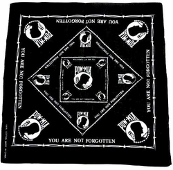 Military, Wholesale, Bulk, Buy, Sell, B POW MIA-a. Military Bandana