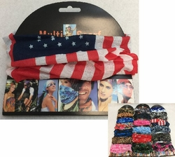 Patriotic Scarfs, Baseball Caps Hats Wholesale Bulk Suppliers - BN651. .MultiPurpose Head Scarf [BUFF]