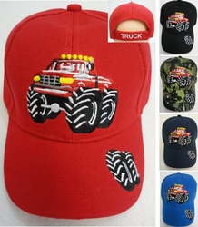Kid's Truck Baseball Caps Hats Wholesale Bulk Suppliers - HT204. Child's Ball Cap [Monster Truck]