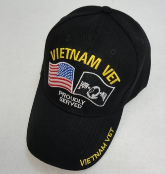 Wholesale Mens Caps Hats Wholesalers Suppliers Bulk - Vietnam Veteran Baseball Caps Hats Wholesale Bulk Suppliers - HT572. VIETNAM VET Hat [American POW Flag] Proudly Served