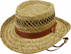 Wholesale Straw Hats - Sun Hats, Fedoras, Visors, Cowboy Hats - SC-311 Straw Hat
