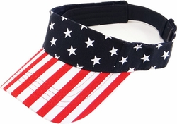 Headwear Hats Caps Wholesale Clothing, Products Resale Online - Blank hats, Beanies, Trucker Hats, Snapback Hats and more, Wholesale Prices - BP-222 US Flag Sun Visor
