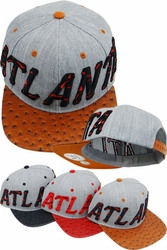 Wholesale Clothing, Products Resale Online - Blank hats, Beanies, Trucker Hats, Snapback Hats and more, Wholesale Prices - FS-320 Atlanta Ostrich Snapback