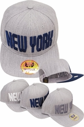Headwear Hats Caps Wholesale Clothing, Products Resale Online - Blank hats, Beanies, Trucker Hats, Snapback Hats and more, Wholesale Prices - FS-349 New York H.Gray Snapback