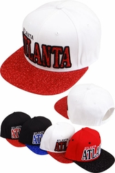Wholesale Clothing, Products Resale Online - Blank hats, Beanies, Trucker Hats, Snapback Hats and more, Wholesale Prices - FS-364 Atlanta Glitter Snapback