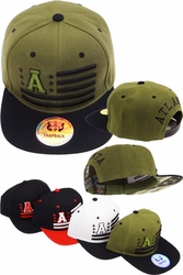 Bulk Hats Caps Wholesale Clothing, Products Resale Online - Blank hats, Beanies, Trucker Hats, Snapback Hats and more, Wholesale Prices - FS-384 Atlanta Initial Flag Snapback