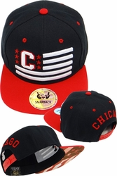 Bulk Hats Caps Wholesale Clothing, Products Resale Online - Blank hats, Beanies, Trucker Hats, Snapback Hats and more, Wholesale Prices - FS-385 Chicago Initial Flag Snapback