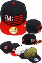 Wholesale Clothing, Products Resale Online - Blank hats, Beanies, Trucker Hats, Snapback Hats and more, Wholesale Prices - FS-388 Miami Initial Flag Snapback