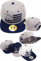 Wholesale Clothing, Products Resale Online - Blank hats, Beanies, Trucker Hats, Snapback Hats and more, Wholesale Prices - FS-389 New York Initial Flag Snapback