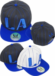 Hats Caps Wholesale Clothing, Products Resale Online - Blank hats, Beanies, Trucker Hats, Snapback Hats and more, Wholesale Prices - FS-392 LA Stripe Snapback