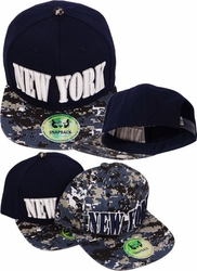 Wholesale Clothing, Products Resale Online - Blank hats, Beanies, Trucker Hats, Snapback Hats and more, Wholesale Prices - FS-400 New York Digital Snapback