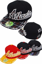 Wholesale Clothing, Products Resale Online - Blank hats, Beanies, Trucker Hats, Snapback Hats and more, Wholesale Prices - FS-413 Atlanta Plaid Snapback