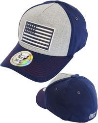 Hats Caps Wholesale Clothing, Products Resale Online - Blank hats, Beanies, Trucker Hats, Snapback Hats and more, Wholesale Prices - IF-209 US Flag High Frequency Flex