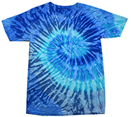 Wholesale Products - Men's Women's Adult Colortone Tie Dye Vintage Pigment Collection Youth & Adult T-Shirt - BLUE JERRY