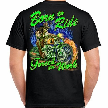 Wholesale Clothing, Biker T Shirts Suppliers Women's Bulk Cheap - Born to Ride Forced to Work Rider T-Shirt