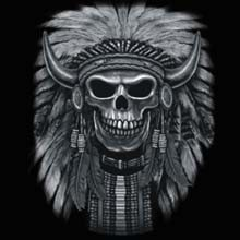 Skull Gothic Cheap Bulk Wholesale Clothing - Native Skull - Graphic T-Shirts, Women's T-shirts, Polo Shirts, Hoodies, Wholesale Prices - 22012n