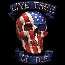 Patriotic Live Free or Die - Wholesale Clothing, Hats, Caps, Blank Apparel, Bulk T-Shirts, Cheap Polo Shirts, Supplier - MSC Distributors